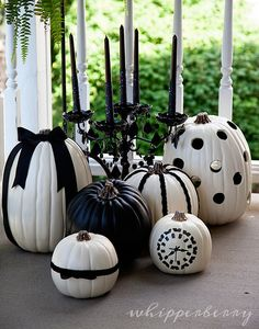 Black and White Halloween Pumpkins by @Heather Creswell Creswell Creswell Creswell // Whipperberry #MPumpkins