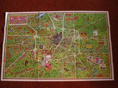 1978 Astroworld Houston Map Marvel McFey Houston Texas Map