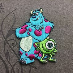 Monsters Inc patch Individuality Hat patches Embroidered Iron on Patches sew on patches Cartoon patch