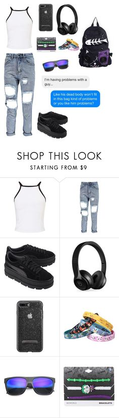 """Untitled #26"" by eveningstar-738 on Polyvore featuring Miss Selfridge, Puma, Beats by Dr. Dre, Nintendo, ZeroUV and DC Comics"