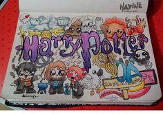 Fanart doodle da saga Harry Potter.