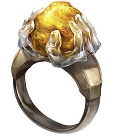 Wealth-Ring. Belonging to the God of Wealth, Aethor, this ring incites boundless greed in those who encounter it, effectively making it worth countless fortunes. However, the magic eventually wears off.