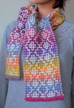 Ravelry: Mosaic Tile Scarf pattern by Gail Tanquary