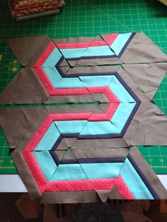 A Few Scraps: 60 degrees-- great ideas for using a 60 degree triangle ruler
