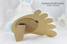Baby photo frame-Baby Foot picture frame-Plywood by MashutkaStudio