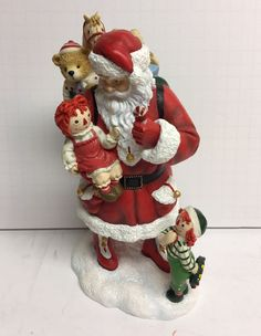 Raggedy Ann And Andy Santa Claus Figurine By Pipka Simon Schuster