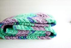 Oh crocheted blanket   COLORS