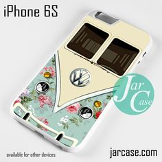 modern floral vw retro bus Phone case for iPhone 6/6S/6 Plus/6S pluse << why don't they make them for iPhone fives??