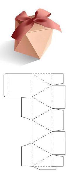 Descarga gratis el molde en mi sitio web – - Home Decor Ideas Origami Diy, Paper Crafts Origami, Origami Gifts, Paper Crafting, Diy Crafts Hacks, Diy Crafts For Gifts, Diy Jewelry Unique, Diy Jewelry Making, Diy Gift Box