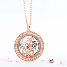 A day without love is like a day without a sunshine. Let the Medium Rose Gold Living Locket with Swarovski Crystals be the foundation of your happily ever after story.