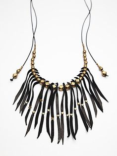 Amsterdam Leather Necklace at Free People