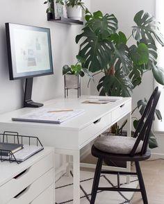Monochrome Workspace Desk Space, Office Workspace, Construction, Workspaces, How To Plan, Monochrome, Furniture, Home Decor, House