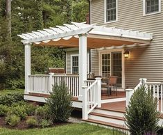 The pergola kits are the easiest and quickest way to build a garden pergola. There are lots of do it yourself pergola kits available to you so that anyone could easily put them together to construct a new structure at their backyard. Pergola Shade, Pergola Patio, Diy Patio, Pergola Plans, Gazebo, Backyard, White Pergola, Pergola Swing, Pergola Ideas
