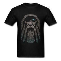 Odin All Father T-Shirt. High quality 100% Cotton Odin T-Shirt. In Norse mythology Odin wasoften known as the 'All Father' and the 'Master of Runes'. Product Information: Material: Cotton Collar: O-Neck Colour: 11 Colour Size: XS-XXXL
