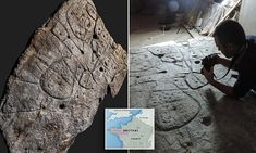A Bronze Age stone slab unearthed in France in 1900 has been rediscovered in a new analysis that deems it to be the oldest known map in Europe.A team of French scientists determined the markings were … Stone Slab, Farm Hero Saga, Head Start, Bronze Age, Ancient Civilizations, Ancient History, Scientists, Archaeology, Year Old