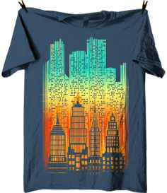 Today's cityscape t shirt at captainkyso offers a glimpse into a futuristic urban setting.