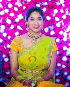 Silver Ring With Cubic Zirconia Code: 3140717098 Wedding Lehanga, Bridal Lehenga, Lehenga Choli, Half Saree Designs, Blouse Designs, Kids Lehenga, Indian Bridal Makeup, Wedding Wear, Wedding Bride