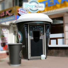 maximize Coffee Carts, Little's Coffee, Coffee Truck, Small Coffee Shop, Coffee Shop Design, Kiosk Design, Cafe Design, Milkshake Bar, Mini Cafe