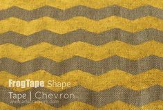 FrogTape Chevron Shape Tape Painting on Burlap