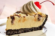 """""""No-Melt"""" Sundae Pie recipe.  I've made this with graham crumbs as well and have used butterscotch pudding mix too.  Both are excellent and sooo easy!!   You can even leave out the sweet and consensed milk and you don't have to freeze it"""