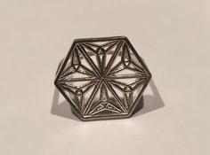 Silver Snowflake Ring by DesignRosetta