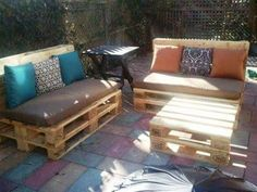Ideia Para Jardim · Pallet Outdoor FurnitureOutdoor ...