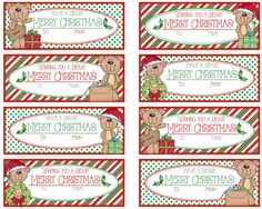 Have a Beary Merry Christmas & Wishing You a by Pinkowlpartydesign Merry Christmas Wishes, 12 Days Of Christmas, Christmas Tag, Christmas Ideas, Xmas, Welcome New Teachers, Holiday Crafts, Holiday Ideas, Christmas Gift Tags Printable
