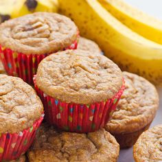 Clean Eating Banana Muffins-I made these tonight and added chopped pecans and dark chocolate chips. Yum!