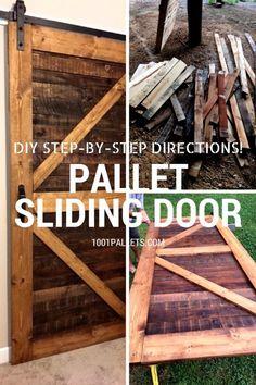Stylish Rustic Sliding Pallet Interior Door