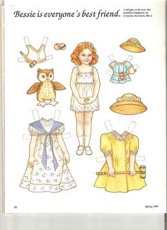 Sew Beautiful paper doll Bessie 1 | Flickr - Photo Sharing!