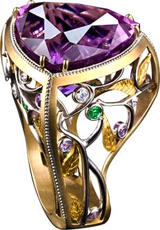 Elfin Queen 23.48 carat Cuprian Tourmaline in 18k Gold with Pure Platinum Inlay. (=)
