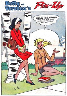 betty and veronica's pin up page