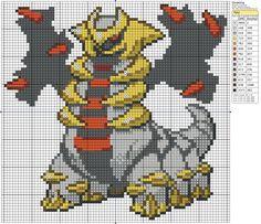 "Search Results for ""Pokemon "" – Page 39 – Birdie Stitching Giratina Pokemon, Pokemon Sprites, Beaded Cross Stitch, Cross Stitch Charts, Cross Stitch Patterns, Pixel Pattern, Pattern Art, Pokemon Perler Beads, Hama Beads"
