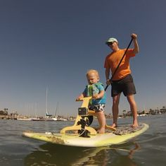 A sturdy and stable seat for kids to ride while you paddle. Paddleboarding with the kids just got easier. Take the kids paddleboarding with you