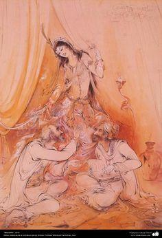 """""""Discusión"""" 1970 Obras maestras de la miniatura persa; por Profesor Mahmud Farshchian"""