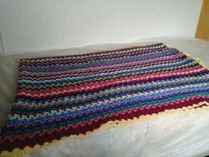 V stitch blanket finished on holiday
