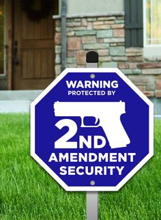 Let Them Know Where You Stand! Guns allowed and pro second amendment gun signs for your home and yard. Shop today - USA made.
