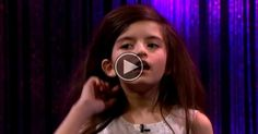 Angelina Jordan Wows The Audience With 'Fly Me To The Moon'.