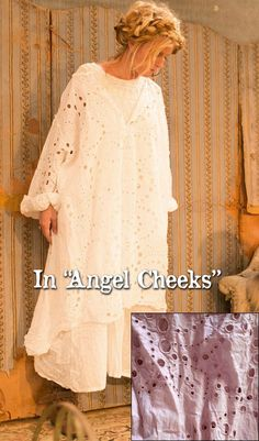 Dress : Magnolia Pearl Official Web Store  ***   European Cotton Eyelet Kaat Dress in Angel Cheeks $350.00