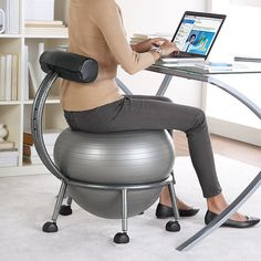 Pilates ball chair