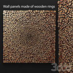 3d модели: Другие предметы интерьера - Настенный декор из деревянных колец.