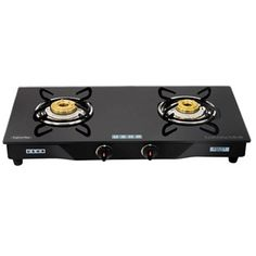 Buy online #Usha Cook Top Ebony #Gas Stove GS2 001 2 burner for Rs.4,200/-