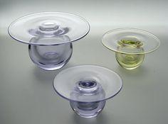 Nanny Still, Saturnus Riihimäen Lasi, Finland Flea Market Finds, Glass Design, Vintage Decor, Candlesticks, Be Still, Finland, Accent Decor, Glass Art, Retro