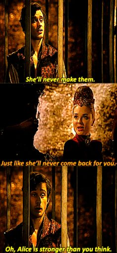 Cyrus, Jafar and The Red Queen talking about Alice's wishes. Once:Wonderland