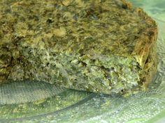 : Gâteau salé aux épinards, tofu et sarrasin sans gluten et sans lactose  Ingrédients: 600 g d'épinards hachés surgelés 2 oeufs 3 c à s de farine de sarrasin Exquidia 400 g de tofu soyeux 1 échalote 3 grosses gousses d'ail sel aux herbes herbes de Provence cumin  poivre moulu four 180°c 20/30 mn