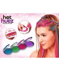 HOT HUEZ SAÇ TEBEŞIRI Rengarenk saçlarla kendinize yeni bir tarz yaratın. Hızlı,kolay,sprey-boya kullanmadan saç renginizi değiştirerek etkileyici bir görünüme kavuşmak ister misiniz? Hot Huez Saç Tebeşiri kullanımı çok kolay olmakla birlikte, şampuan ile yıkandığı takdirde sizleri uğraştırmadan çıkmabilme özelliği...