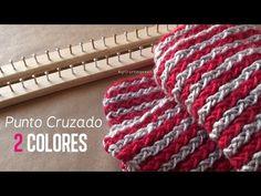 Punto Cruzado 2 Colores / Bufanda en bastido [FACIL] - YouTube