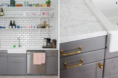 grey ikea kitchen