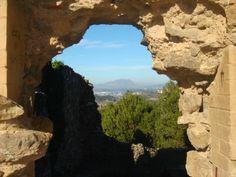 Vistes de Montserrat des del Castell Ciuró de Molins de Rei (Baix Llobregat)