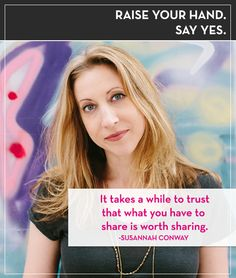 Raise your hand. Say yes. Podcast with Susannah Conway and Tiffany Han